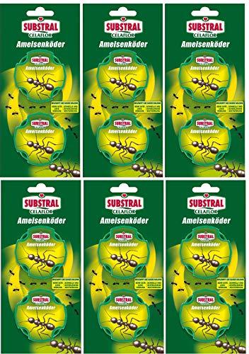 Celaflor Ameisen-Köder - mit schneller und zuverlässiger Nestwirkung - 6x 2 Dosen - Mit Gratis Gardopia Zeckenzange