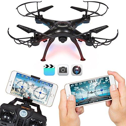 2.4G 4CH WIFI FPV Drohne mit HD 0.3MP Kamera, FPVRC X5SW -1 Mini RC Quadrocopter, Faltbares 6-Achs Drone Toy für Kinder und Anfänger draußen spielen