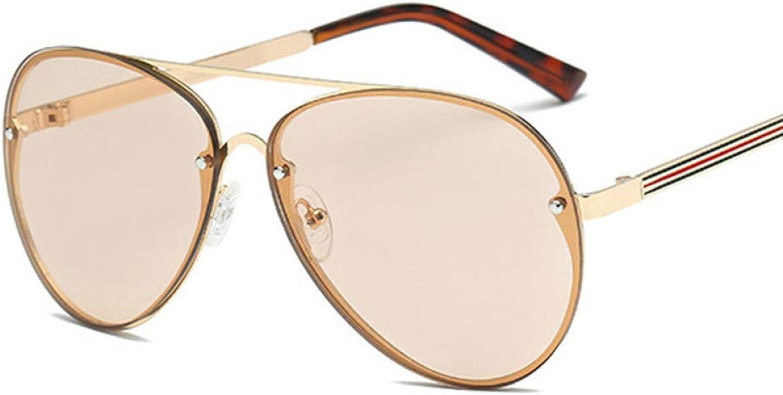 441601ac6ca602 Taiyangcheng Übergroße randlose Aviator Sonnenbrille Frauen Spiegel Vintage  Rivet Men Sonnenbrille B07PX4G4QB Einfach