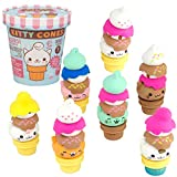 Kitty Cones Eraser Blind Box - Comes with a Kitty, Cone and Four Toppings - Series 1