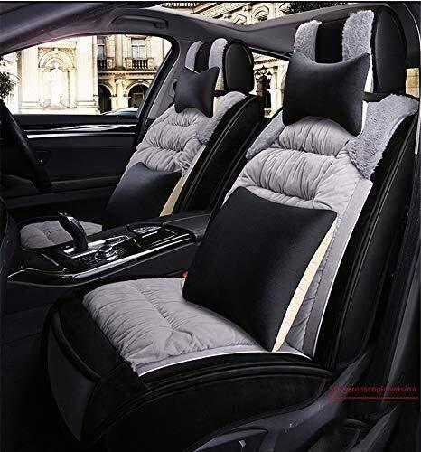 Preisvergleich Produktbild Winter Auto-Sitzbezug Plüsch Warm Allround Auto-Sitzabdeckung,  geeignet for die meisten Fünfsitzer Autos,  Grau