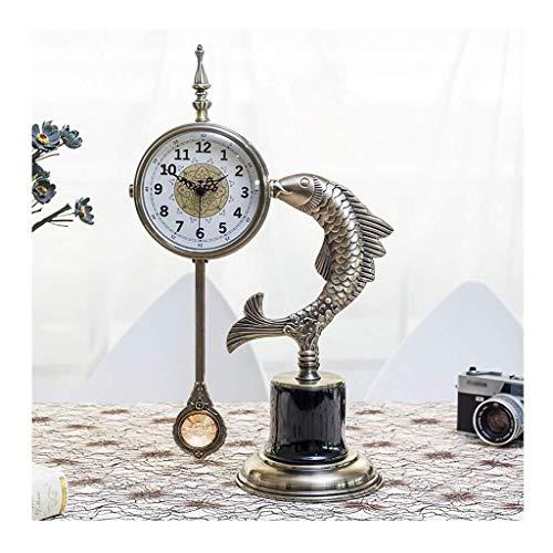 SOAR Tischuhren Stockuhr Tischuhr, Uhr Dekoration, European Bronze Uhr, Wohnzimmer Schlafzimmer Uhr, Silent Metal Quarz-Taktgeber