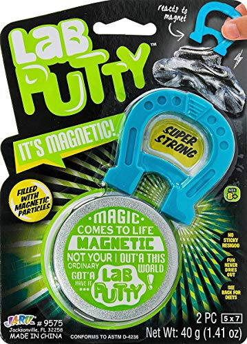 Lab Putty Magnetic Slime with Magnet Included (1 Unit ) by JA-RU. Magnetic Toy with Best Thinking Smart Crazy Stress Putty with Tin, Sensory Toy Stress Relief Party Favor Toy 9575-1A
