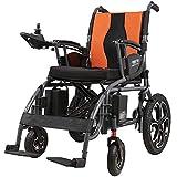 BXZ Wposd Lightweight Lntelligent Folding Carry Sillas de ruedas eléctricas para adultos, sillas eléctricas para discapacitados con joystick de 360 °, silla de ruedas eléctrica de doble función par