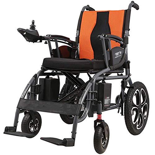 TTWUJIN Leichter Rollstuhl, Elektrische Leichte Lntellige Folding-Tragetasche Für Erwachsene Elektrische Rollstühle, Stiftstühle Für Behinderte Mit 360 ° Joystick, Dual-Funktion Schwere Rollstuhl, El