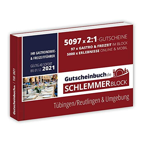 Gutscheinbuch.de Schlemmerblock Tübingen/Reutlingen & Umgebung 2021