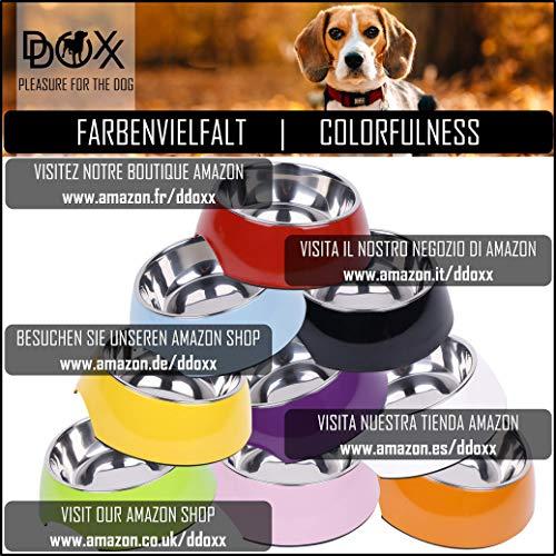 Fressnapf, Melamin-Napf 160 ml, 350 ml, 700 ml verschiedene Farben: Melamin-Napf, Edelstahl-Napf, Futternapf, robust, spuelmaschinenfest, stoss- und kratzfest, rutschfest, Edelstahlnapf herausnehmbar fuer Welpen, Hunde, Katzen by DDOXX Farbe Gelb, Größe 160 ml - 6
