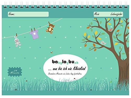 babylogbuch - nun bin ich ein Kleinkind - Kinder Tagebuch / Kalender für 24 Monate - Geschenk