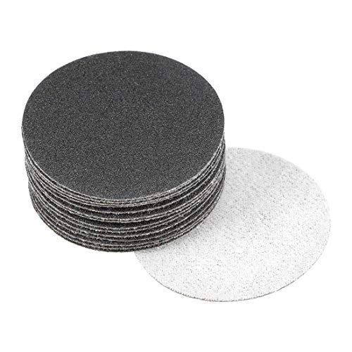 Discos de lijado en seco y húmedo de 2 pulgadas Disco de lijado con gancho y bucle de grano 150 Papel de lija de carburo de silicio 15 piezas