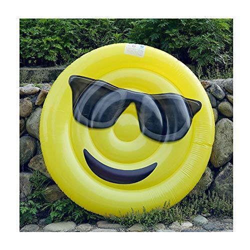 Pool Hängematte PVC Pool Lounger, Tragbares Wasserhängematte Erwachsene, Aufblasbare Smiley Pool Lounger Luftmatratze, Schwimmende Reihen, Surfen, Aufblasbare Flöße(59 * 5,9 Zoll)