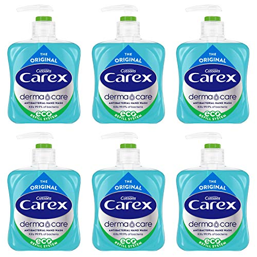 Carex - Pack de 6 botellas de jabón líquido antibacteriano original 250 ml