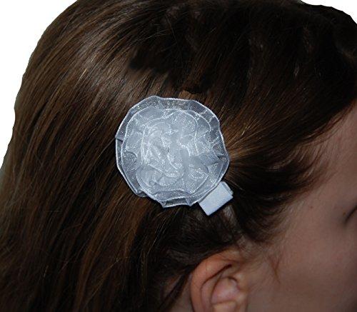 Helgas Modewelt Heppiedi, Haarspange, Haarschmuck für Kinder, Kommunion, weiß