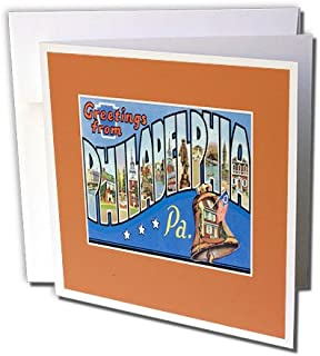Greetings From Philadelphia Pennsylvania, Liberty Bell - Greeting Cards, 6 x 6 inches, set of 6 (gc_170560_1)