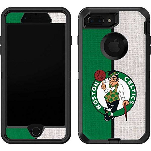 Skinit Decal Skin Compatible with OtterBox Defender iPhone 7 Plus - Officially Licensed NBA Boston Celtics Canvas Design
