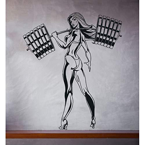 bingcheng Muur Vinyl sticker meisje bikini fitness lange halter slanke vorm 57X67cm