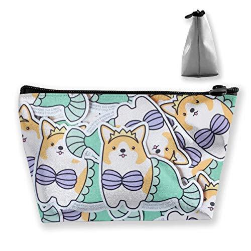 Mode Grappige Bikini Corgi Hond Zeemeermin Cosmetische Tas Make-up Opbergtas Toiletruimte Organizer Potlood Case Handtas