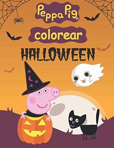 peppa pig colorear halloween: Gran libro para colorear para niños de 2 a 4 años.