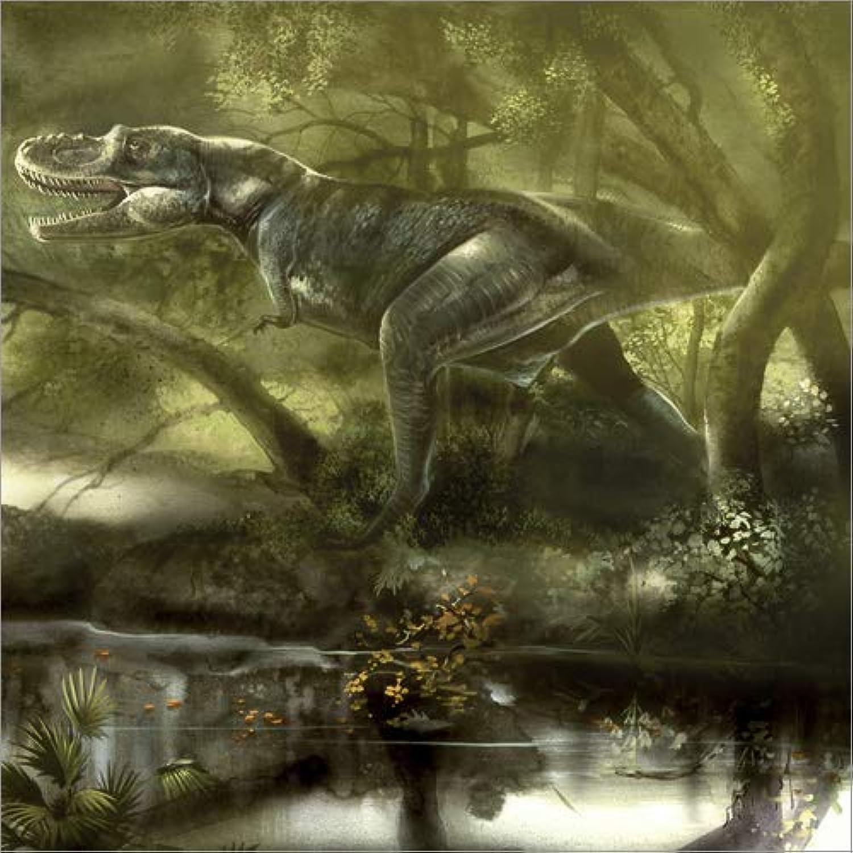 100% precio garantizado Posterlounge Cuadro de Madera 60 x 60 60 60 cm  Gorgosaurus Dinosaur Hunting for Food. de Jan Sovak Stocktrek Images  tienda de bajo costo