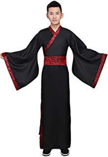 Ez-sofei Men's Ancient Chinese Han Dynasty Traditional Hanfu Robe Cosplay Costume
