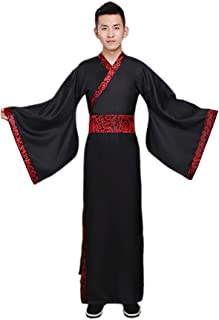 Men's Ancient Chinese Han Dynasty Traditional Hanfu Robe Cosplay Costume