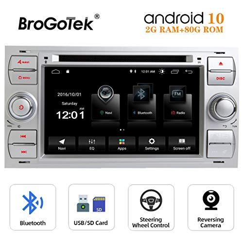 Radio Android 10.0 Coche Autoradio para Ford Fiesta Fusion Transit Connect Focus...