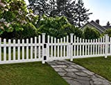 Zippity Outdoor Products ZP19043 All American Gate, White