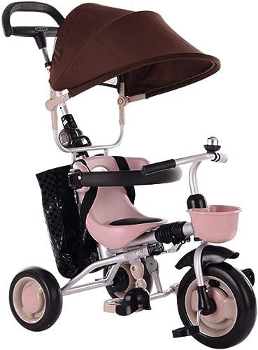 punto de venta GYF Triciclos para Niños,Fácil De Montar Y Ajustar Ajustar Ajustar Triciclo Evolutivo Bicicletas para Niños Triciclos Bebes Evolutivo rojo verde marrón ( Color   marrón )  descuentos y mas