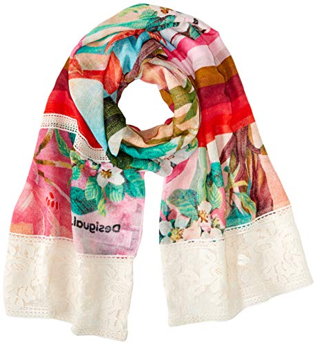 Desigual Damen Foul_Sunset Mandala Schal, Rot (Rose Bay 3065), One Size (Herstellergröße: U)