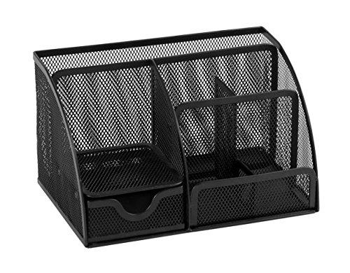 Osco MD01-BLK - Organizador de material de escritorio de malla metalica