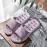 Zapatos De Playa Y Piscina Mujer Verano casa baño baño Zapatillas con Fugas Pareja Interior Antideslizante Desodorante Sandalias Hombres Zapatos púrpura EU35-36