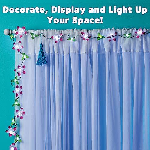 CRAFTIVITY Cherry Blossom Lights Craft Kit - Makes 1 LED Flower String Light