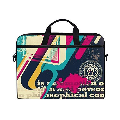 Laptop Sleeve Case,Laptop Bag,Old Tv Water Briefcase Messenger Notebook Computer Bag with Shoulder Strap Handle,28.5×38 CM/14 Inch