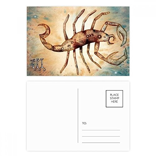 DIYthinker November Oktober Schorpioen sterrenbeeld Zodiac Postkaart Set Verjaardag Thanks Card Mailing Side 20 stks 5.7 inch x 3.8 inch Multi kleuren