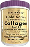 HealthyHey Nutrition Collagen Gold Series with Hyaluronic Acid, Biotin 300mcg & Vitamin C