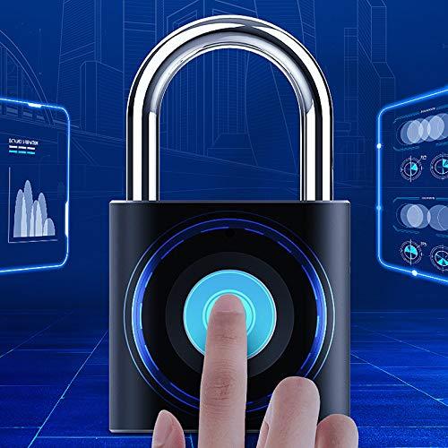 Padado De Huellas Dactilares Smart Small Lock Equipaje Gabinete De Equipaje Caja De Cajón Candado De Gimnasio,Negro