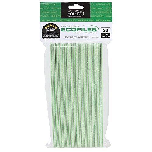 For Pro Green Ecofile Lot de 20 feuilles de papier abrasif Grain 100/180