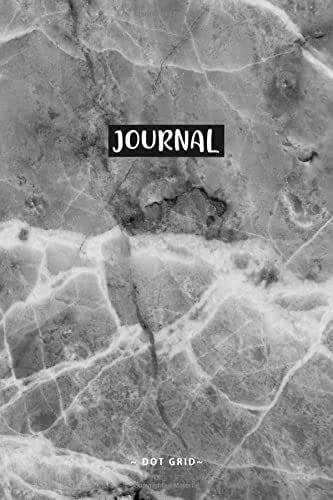 Journal in marble design dark: Dot Grid Journal | Entering Notes | Ideas | To-Do | Diary | Bullet Journal | Notepad - A5 6x9in | 120 pages