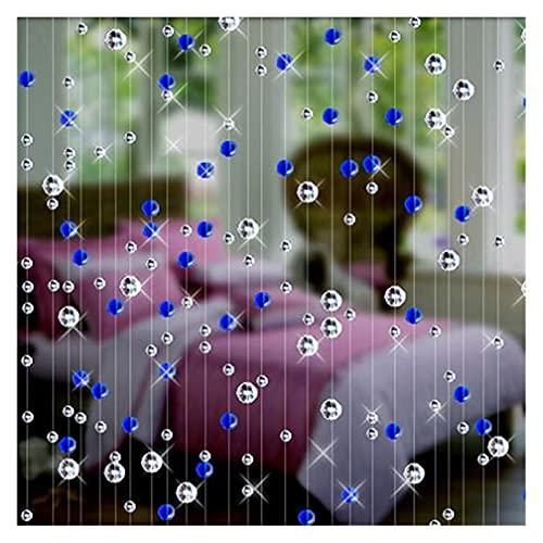 DUNRU Cortinas De Borla Crystal Bead Cortina Moda Interior Decoración del hogar Decoración de la Boda de Lujo decoración de la decoración Festiva Festiva Suministros Cortinas De Perlas (Color : Blue)