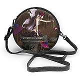 TURFED Hombro de la PU cubierta de césped Ronda Bolsa Hada Tridimensional Diseño criatura mítica con la Cruz mágico artefacto En Zócalo Bosque Body Bag