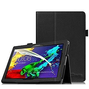 Fintie Folio Funda para Lenovo Tab 2 A10 / Tab 3 10 Plus - Slim Fit Carcasa con Función de Soporte para Lenovo Tab2 A10-70/30/Tab 3 10 Plus/TB-X103F10 de 10,1