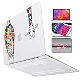 Mektron for MacBook Air 13 Inch Case 2018 Release A1932,Colorful Giraffe Soft-Touch Frosted See Through Hard Shell Cover Air 13.3 inch Retina Display & Touch ID Laptop Case