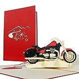 Geburtstagskarte Motorrad, Glückwunschkarte oder Gutschein für Motorrad-Führerschein,...