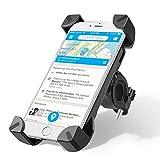 Support Vélo du Guidon, Wrcibo Support Bicyclette Berceau Universel téléphone [Rotation à 360°] [Bracelet en Caoutchouc] avec Smartphone, iPhone, GPS et Autres appareils (Noir)