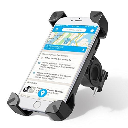 Fahrrad Handyhalterung, BACKTURE Universal Handy Halterung Outdoor Fahrradhalterung Fahrrad Lenker 360° Drehbare Handyhalterung Handy GPS Halter-Schwarz