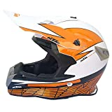 Casco de Motocicleta Cubierta Completa Cuatro Temporadas Off-Road Casco de Moto Off-Road Racing Casco de Pedal de Descenso Hombre-Blanco KTM_S