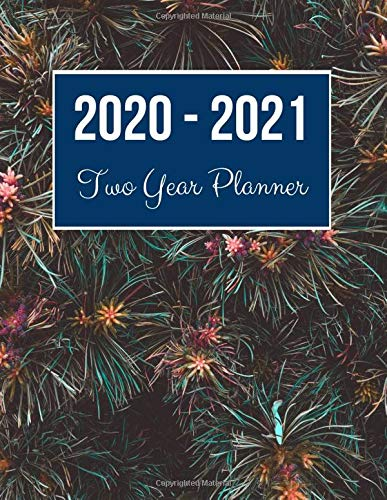 2020-2021 Two Year Planner: Petaled Flower Cover | 2020 Planner Weekly and Monthly | Jan 1, 2020 to Dec 31, 2021 | Calendar Views