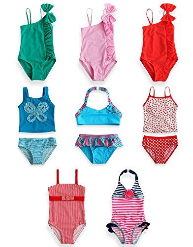 Vaenait bébé Enfants Bikinis Maedchen Collectionner 1 XS Pippi Rose