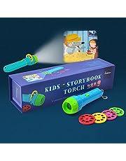 Cozyer Linternas Proyector de 4 Cuentos Infantiles para Niños Juguetes Educativo Iluminación Nocturno (4 Temas)