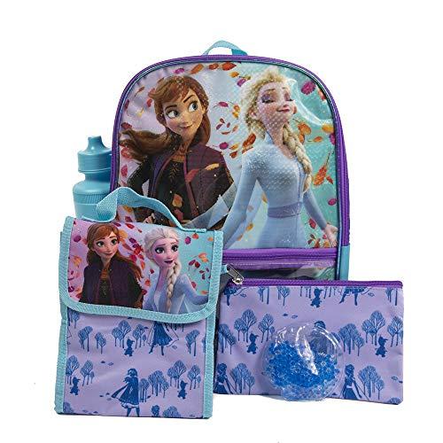 5 Pc. Disney Frozen Backpack Set for Girls, 16 inch w/Frozen Lunch Bag & Pencil Case