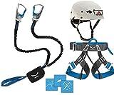 Salewa Klettersteigset Premium Attac + Gurt Via Ferrata Evo + Helm Stubai Fuse Light (gratis Aufkleber-Set)